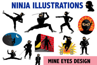 Ninja Clipart Graphic By Mine Eyes Design