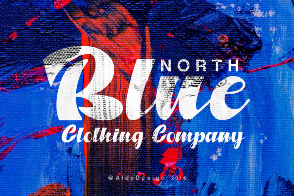 Print on Demand: North Blue Script & Handwritten Font By aldedesign
