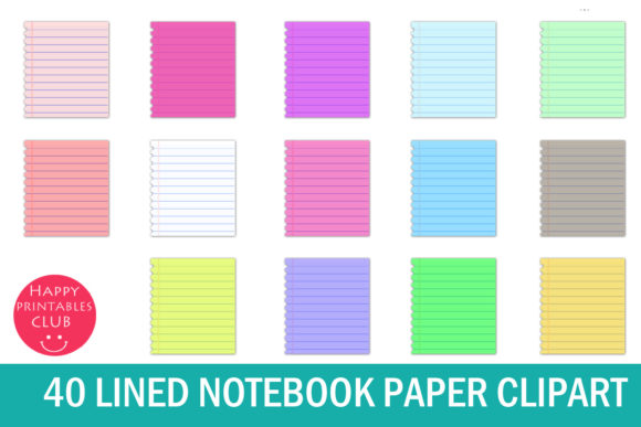 Download Free Notebook Pages Clipart Graphics Graphic By Happy Printables Club for Cricut Explore, Silhouette and other cutting machines.