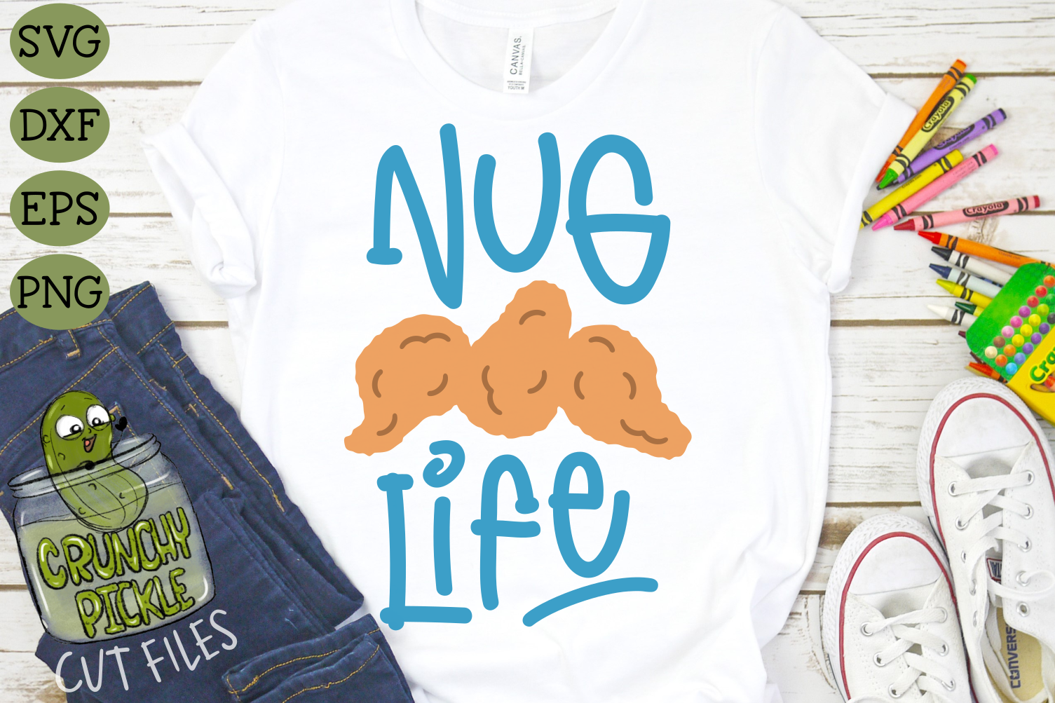 Download Free Nug Life Chicken Nugget Svg Cut File Graphic By Crunchy Pickle for Cricut Explore, Silhouette and other cutting machines.