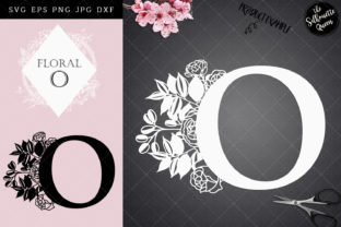 Download Free O Floral Letter Design Graphic By Thesilhouettequeenshop for Cricut Explore, Silhouette and other cutting machines.