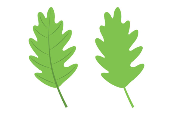 Oak Tree Leaf Clip Art Set Graphic Preview
