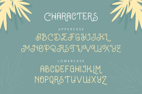 Print on Demand: Oceania Display Font By herbanuts - Image 4
