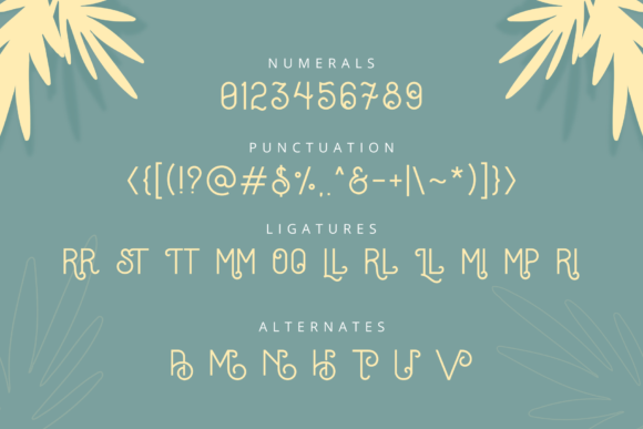 Print on Demand: Oceania Display Font By herbanuts - Image 5