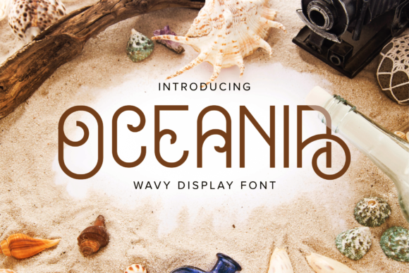 Print on Demand: Oceania Display Font By herbanuts - Image 1