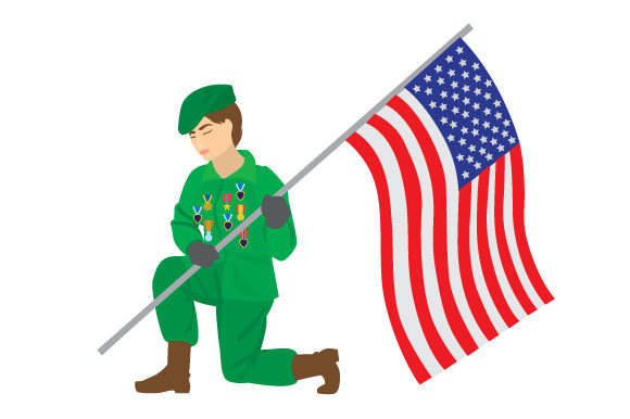 Download Free Older Woman Veteran Holding Usa Flag Svg Cut File By Creative for Cricut Explore, Silhouette and other cutting machines.