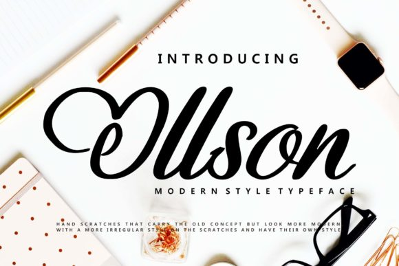 Print on Demand: Ollson Script & Handwritten Font By Vunira
