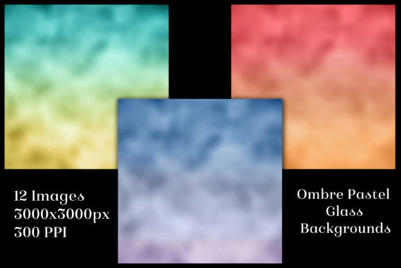 Print on Demand: Ombre Pastel Glass Background Images Graphic Backgrounds By SapphireXDesigns - Image 2