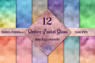 Ombre Pastel Glass Background Images Graphic By SapphireXDesigns