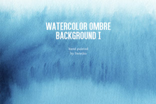 Print on Demand: Ombre Watercolor Background Graphic Illustrations By swiejko