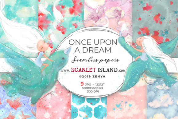 Once Upon a Dream Papers 1 Graphic Patterns By ramandu