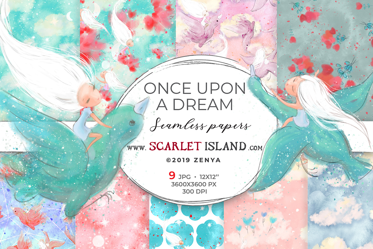 Download Free Once Upon A Dream Papers 1 Graphic By Ramandu Creative Fabrica for Cricut Explore, Silhouette and other cutting machines.