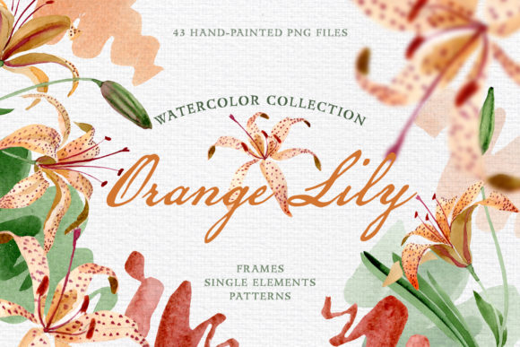Print on Demand: Orange Lily Watercolor Graphic Illustrations By MyStocks