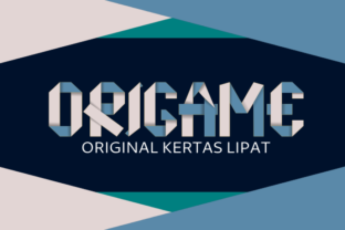 Print on Demand: Origame Display Font By AboeZart Studio