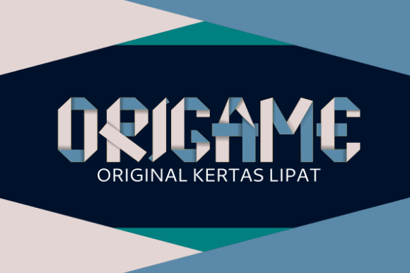 Origame Display Font By AboeZart Studio