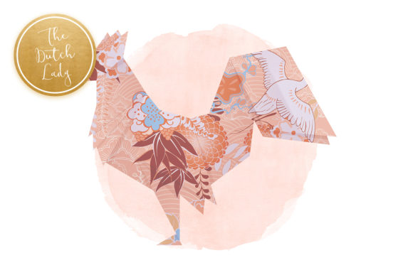 Print on Demand: Origami Animals Clipart Set Graphic Illustrations By daphnepopuliers - Image 3