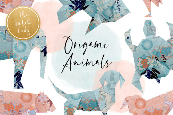 Download Free Origami Animals Clipart Set Graphic By Daphnepopuliers for Cricut Explore, Silhouette and other cutting machines.