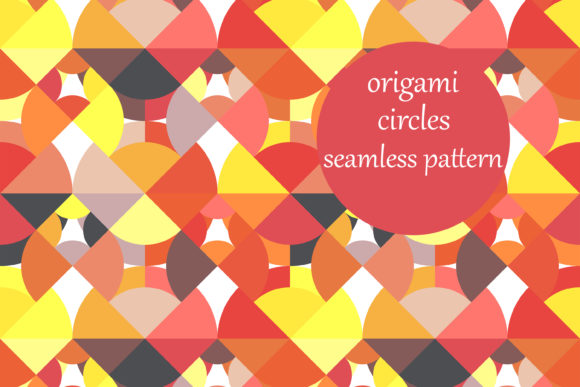 Print on Demand: Origami Cut out Circles Pattern Graphic Patterns By brightgrayart