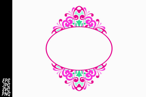 Download Free Ornament Border Graphic By Arief Sapta Adjie Creative Fabrica for Cricut Explore, Silhouette and other cutting machines.