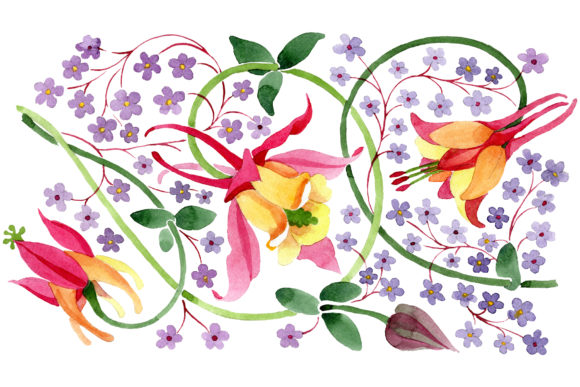 Download Free Ornament For Flower Vase Watercolor Png Graphic By Mystocks for Cricut Explore, Silhouette and other cutting machines.