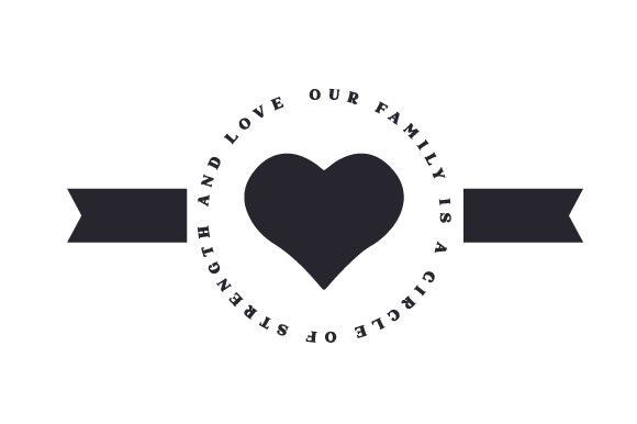 Our Family is a Circle of Strength and Love Family Craft Cut File By Creative Fabrica Crafts - Image 1