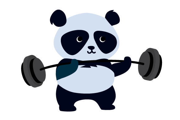 Panda Lifting Weights Motivational Craft Cut File By Creative Fabrica Crafts