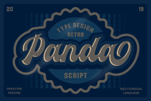 Print on Demand: Panda Script & Handwritten Font By ovoz.graphics