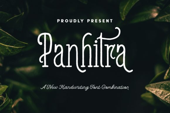 Print on Demand: Panhitra Family Script & Handwritten Font By LostvolType