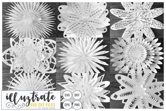 Paper Cutting Flowers Graphic By Illuztrate Creative Fabrica