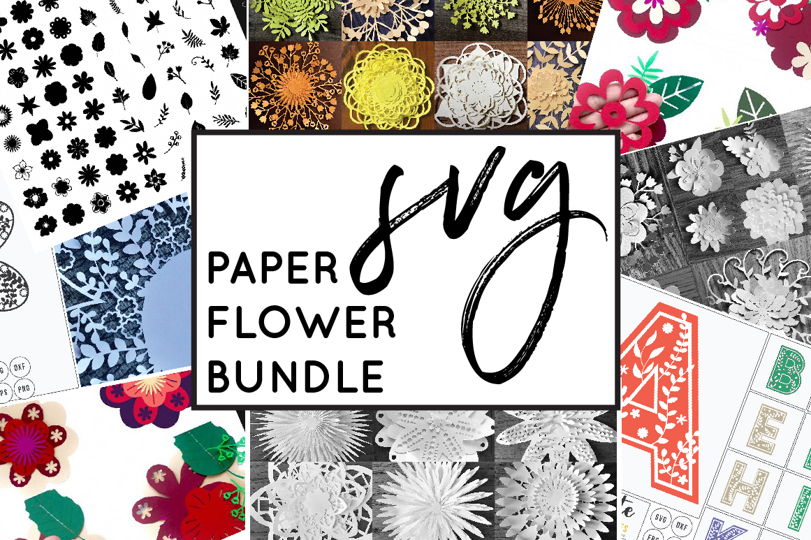 Paper Cutting Flowers SVG File