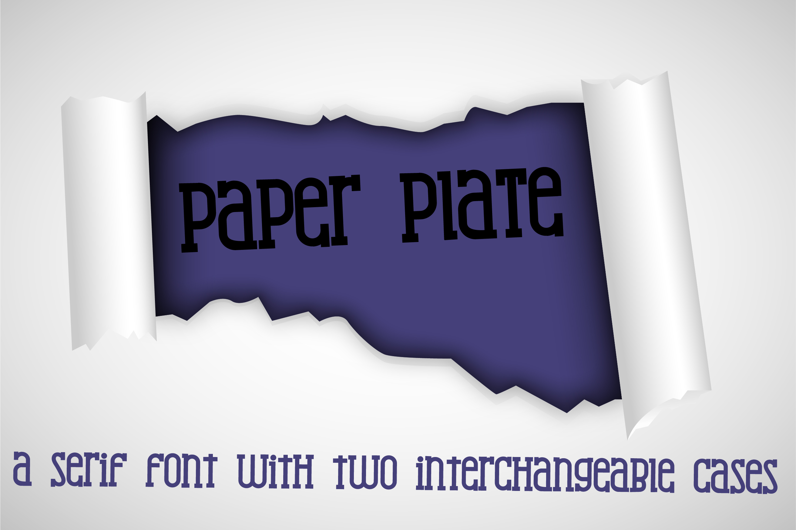 Download Free Paper Plate Font By Illustration Ink Creative Fabrica for Cricut Explore, Silhouette and other cutting machines.