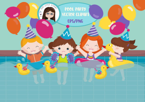 Download Free Party Pool Clipart Vector Graphic By Cutelittleclipart for Cricut Explore, Silhouette and other cutting machines.