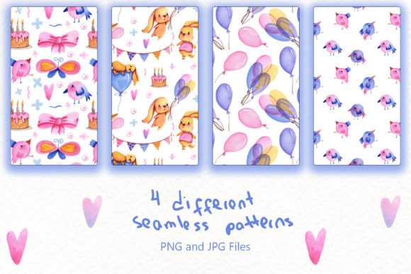 Print on Demand: Party Time Watercolor Collection Graphic Illustrations By tanatadesign - Image 5