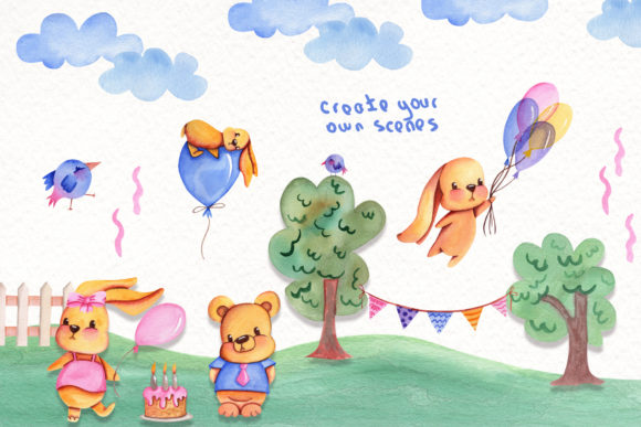 Print on Demand: Party Time Watercolor Collection Graphic Illustrations By tanatadesign - Image 7