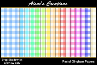 Pastel Gingham Paper Pack Graphic By Aisne