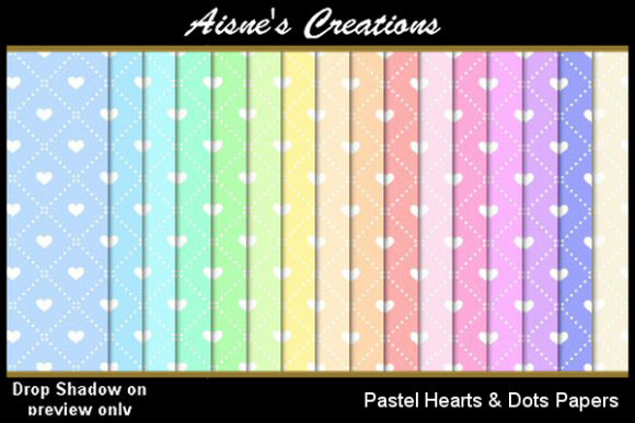 Pastel Hearts & Dots Paper Pack Graphic By Aisne