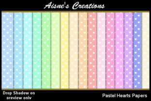Pastel Hearts Paper Pack Graphic By Aisne