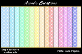 Pastel Lace Paper Pack Graphic By Aisne