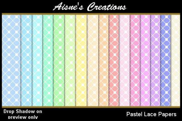 Print on Demand: Pastel Lace Paper Pack Graphic Backgrounds By Aisne
