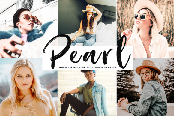 Print on Demand: Pearl Mobile & Desktop Lightroom Presets Graphic Actions & Presets By Creative Tacos