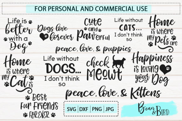 Download Free Pet Love Bundle 20 Designs Graphic By Jessica Maike Creative for Cricut Explore, Silhouette and other cutting machines.