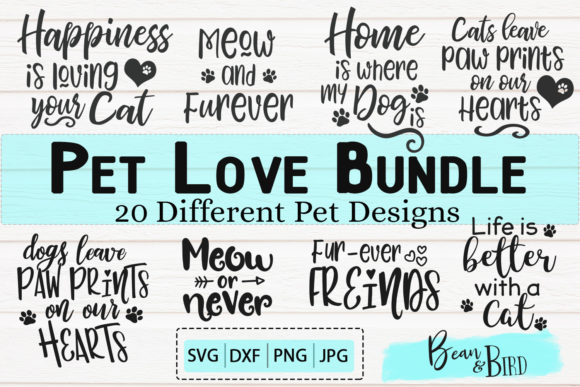 Print on Demand: Pet Love Bundle 20 Designs Graphic Crafts By Jessica Maike