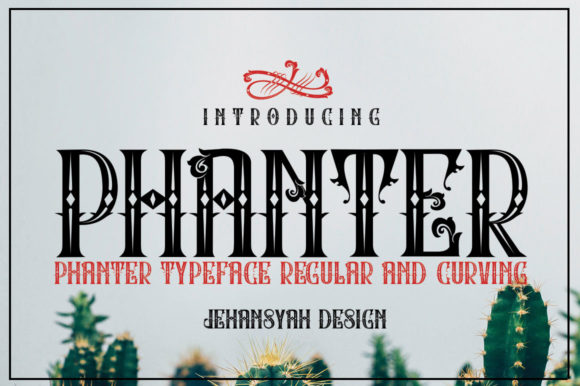 Print on Demand: Phanter Display Font By jehansyah251