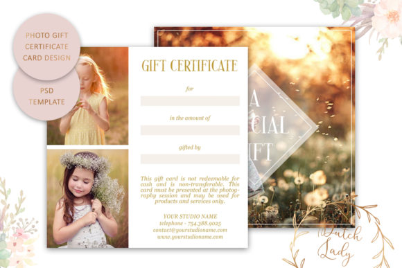 Download Free Photo Gift Card Psd Template 11 Graphic By Daphnepopuliers for Cricut Explore, Silhouette and other cutting machines.