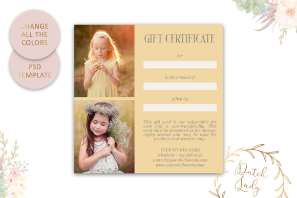Print on Demand: Photo Gift Card .PSD Template - #11 Graphic Print Templates By daphnepopuliers - Image 4