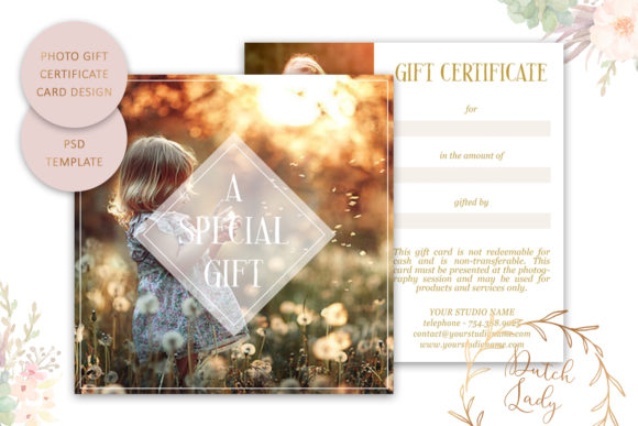 Print on Demand: Photo Gift Card .PSD Template - #11 Graphic Print Templates By daphnepopuliers