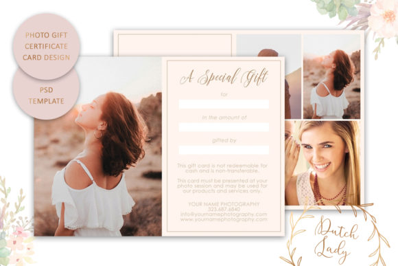 Print on Demand: Photo Gift Card .PSD Template - #15 Graphic Print Templates By daphnepopuliers - Image 2