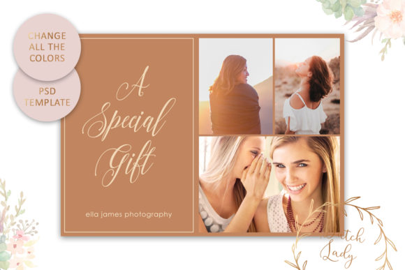Print on Demand: Photo Gift Card .PSD Template - #15 Graphic Print Templates By daphnepopuliers - Image 4