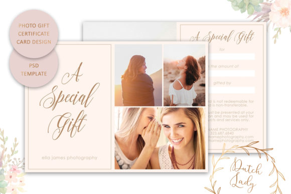 Print on Demand: Photo Gift Card .PSD Template - #15 Graphic Print Templates By daphnepopuliers - Image 1