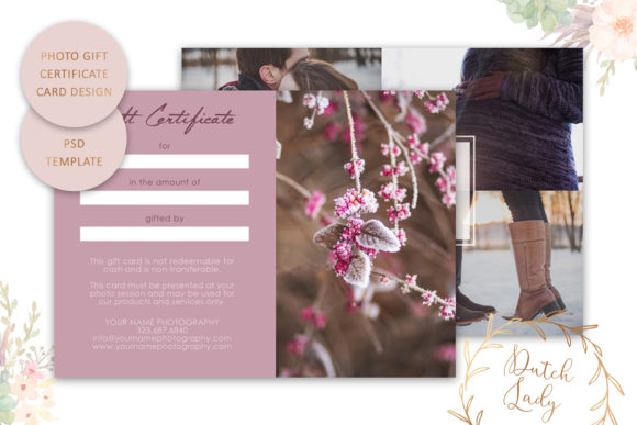 Print on Demand: Photo Gift Card .PSD Template - #21 Graphic Print Templates By daphnepopuliers - Image 2